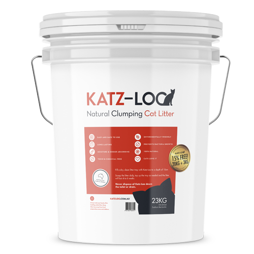 15% FREE - Fast Tub of Katz Loo Cat Litter 20kg's + 15% FREE = 23kg's